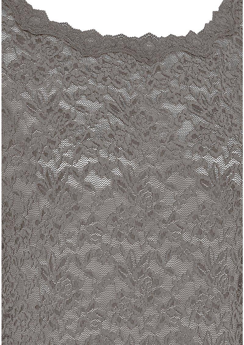 Rosemunde SHORT SLEEVE LACE TSHIRT - PEARL GREY main image