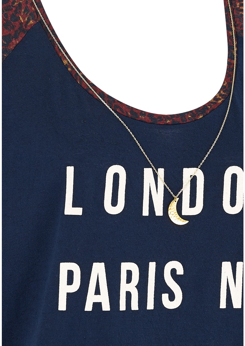 Maison Scotch MIXED PRINTED TEE - SOLAR BLUE main image
