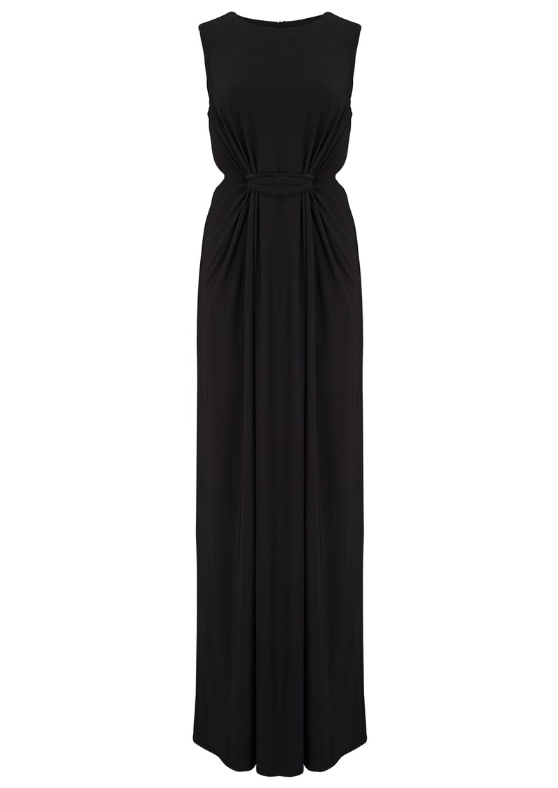 MISA Los Angeles SLEEVELESS SIDE CUT OUT MAXI DRESS - BLACK main image