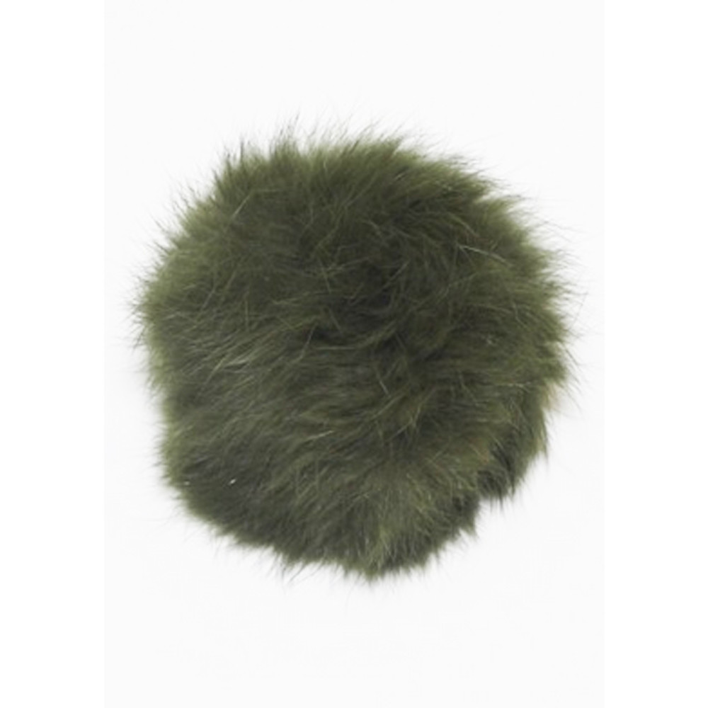 MINI FUR BOBBL - KHAKI