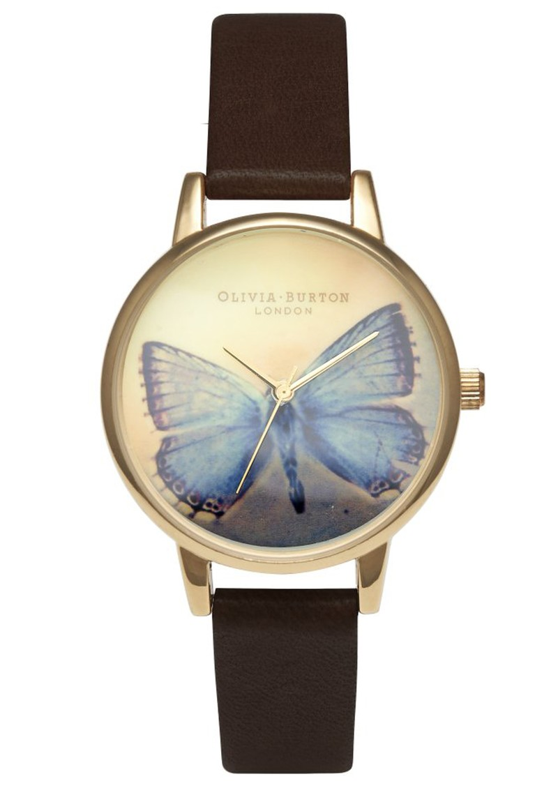 Olivia Burton WOODLAND BUTTERFLY MIDI DIAL WATCH - CHOCOLATE  main image