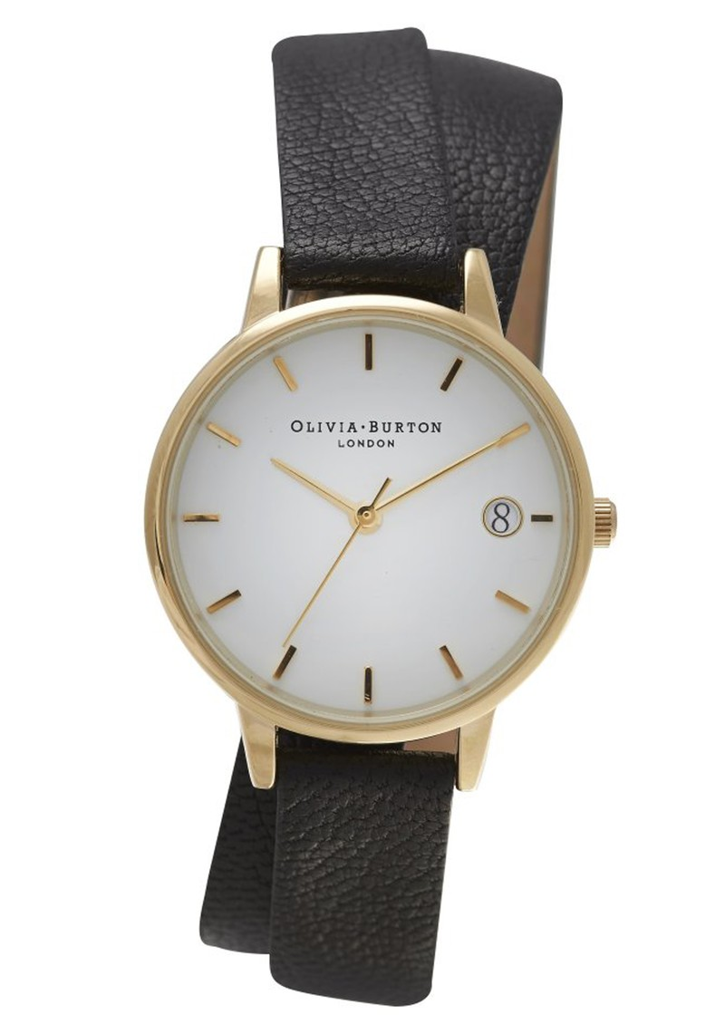 Olivia Burton THE DANDY WRAP WATCH - BLACK & GOLD main image