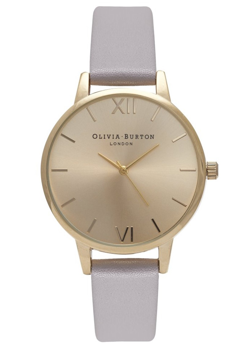 Olivia Burton MIDI DIAL WATCH - GREY LILAC & GOLD main image