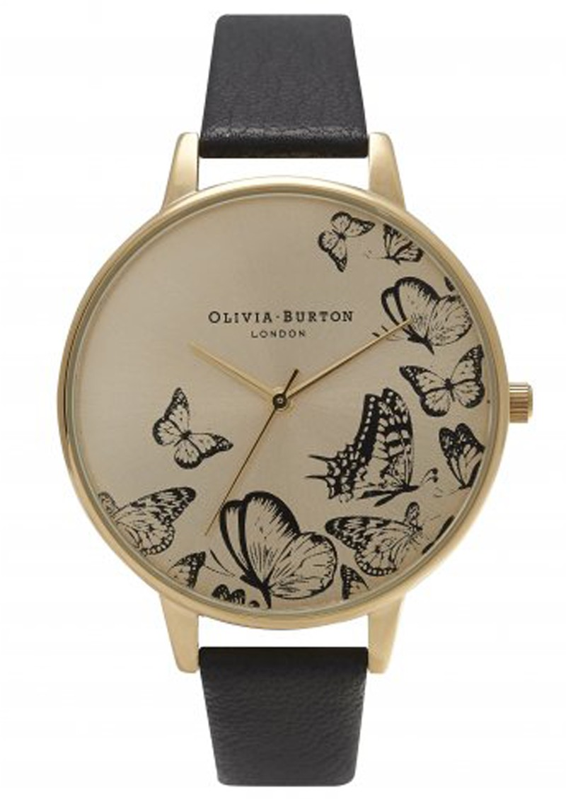 Olivia Burton ANIMAL MOTIF MULTI BUTTERFLY WATCH - BLACK & GOLD main image