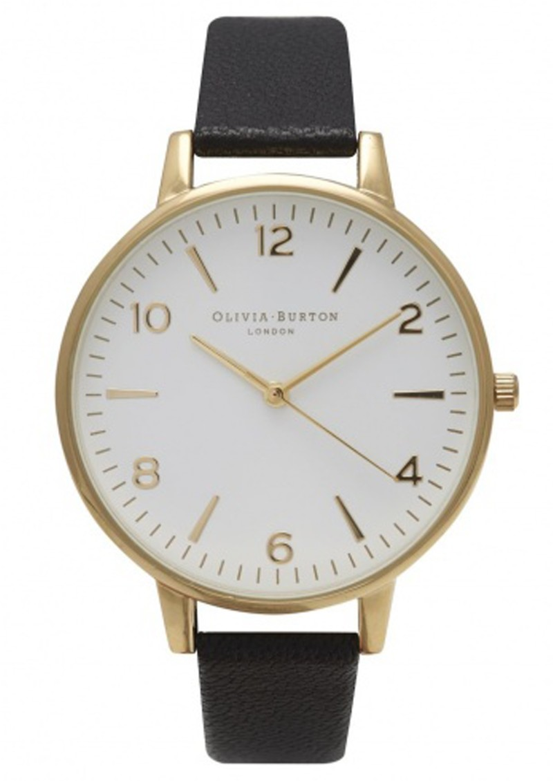 Olivia Burton LARGE WHITE FACE WATCH - BLACK & GOLD main image