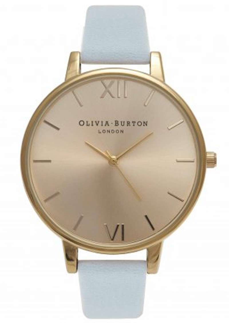 Olivia Burton BIG DIAL WATCH - POWDER BLUE & GOLD main image