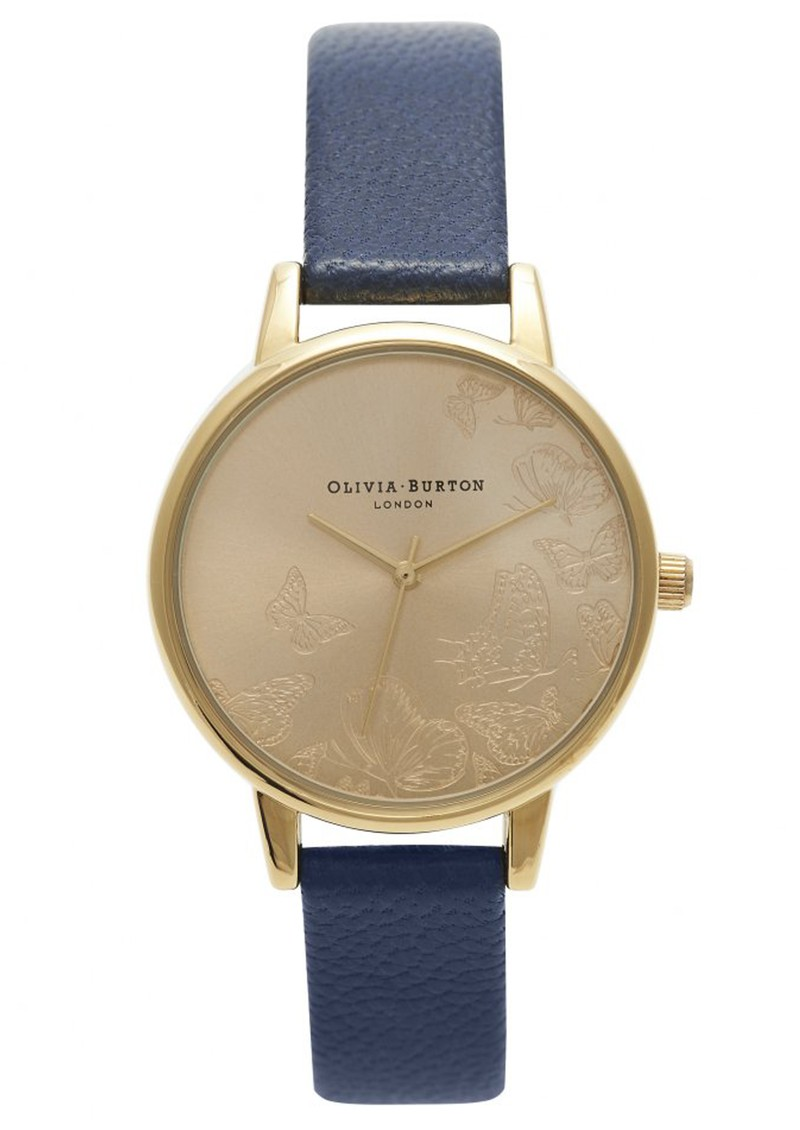 Olivia Burton ANIMAL MOTIF MULTI BUTTERFLY WATCH - NAVY & GOLD main image