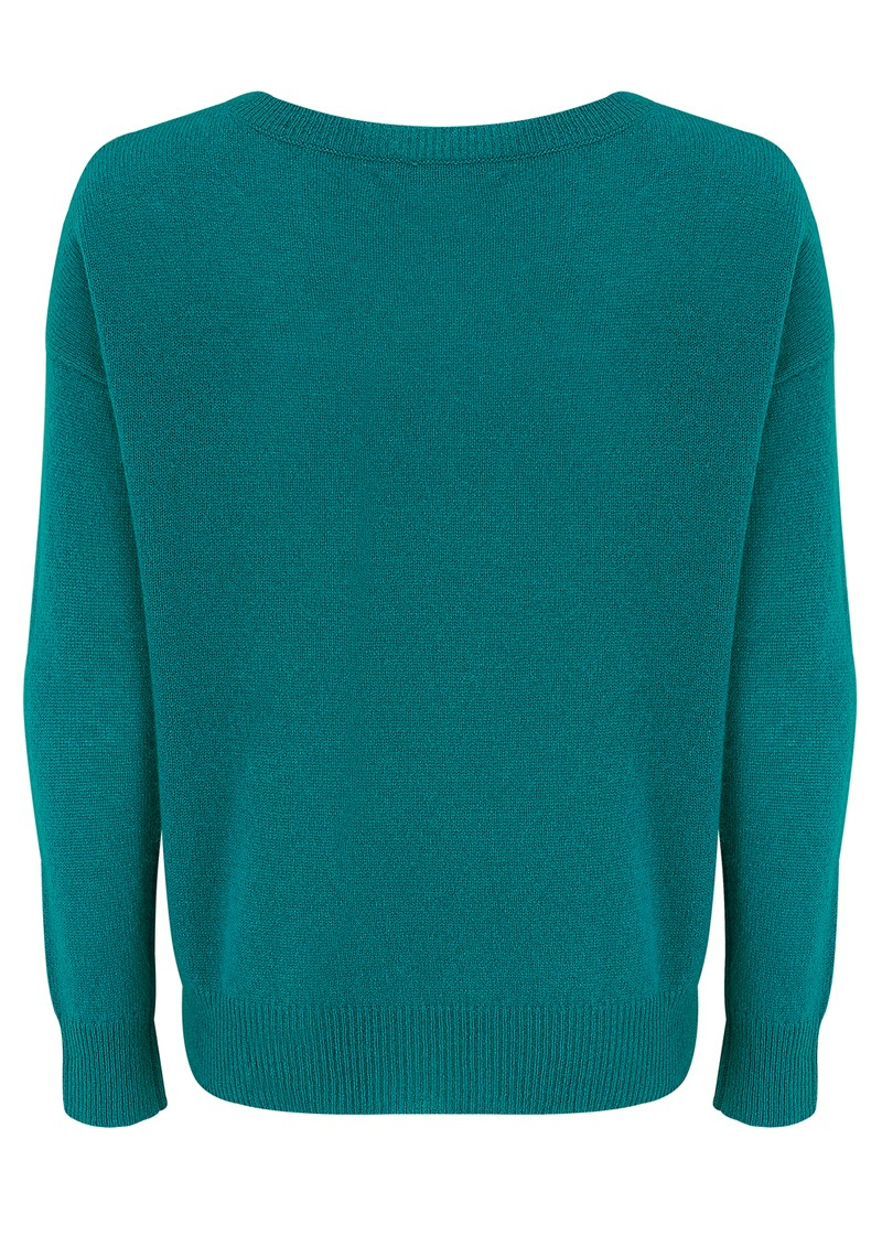 360 SWEATER CHAZZIE CASHMERE SWEATER - EMERALD  main image