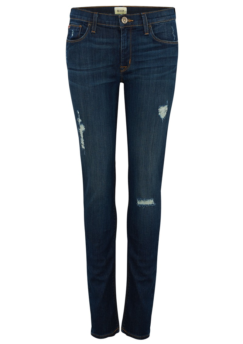 Hudson Jeans NICO MID RISE SUPER SKINNY DISTRESSED JEANS - WAPA main image