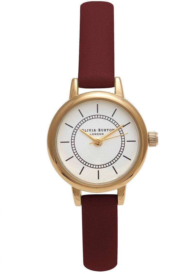 COLOUR CRUSH WATCH - BURGUNDY & GOLD main image