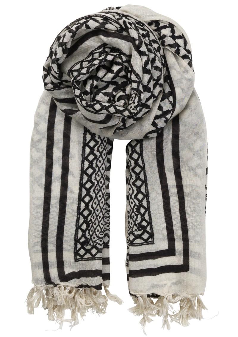 Becksondergaard O-rayen Silk & Wool Scarf - Black main image