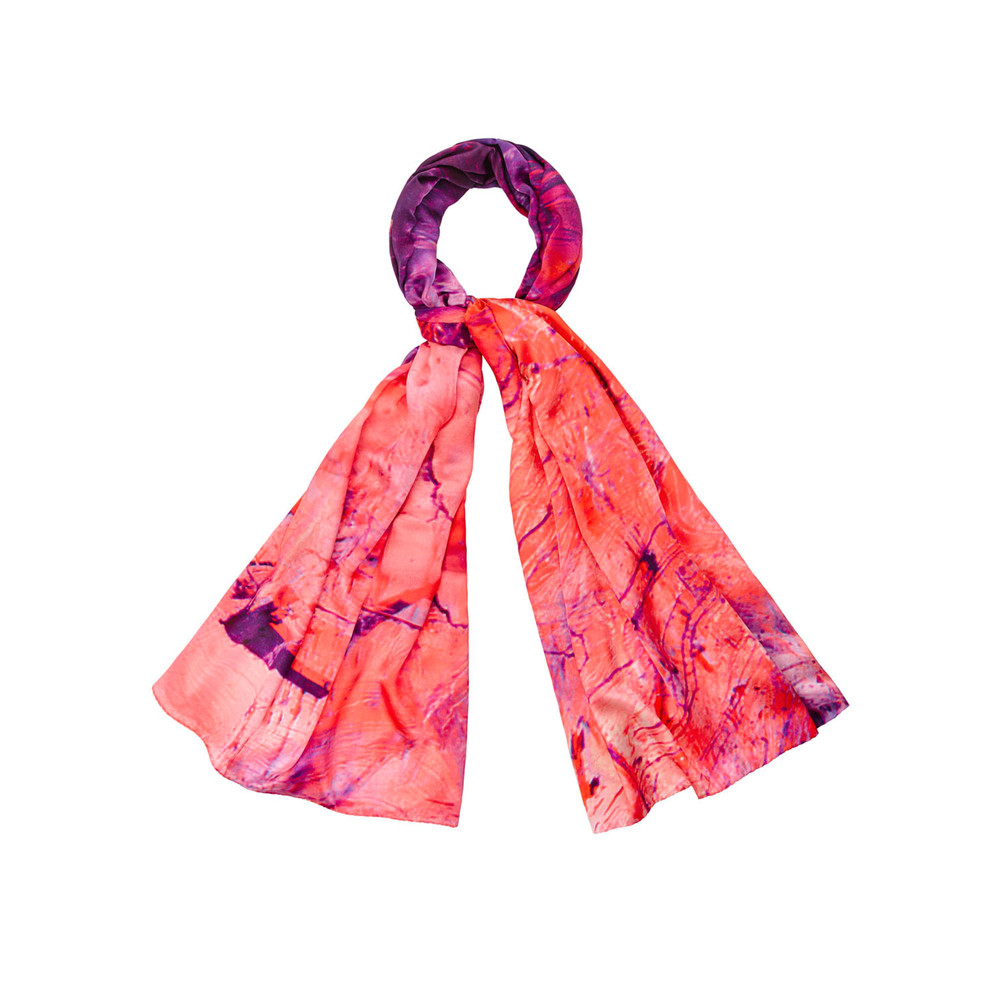 Heavenly Calcite Silk Scarf - Pink
