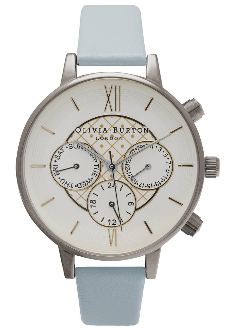 Olivia Burton CHRONO DETAIL WATCH - POWDER BLUE, GOLD & SILVER MIX main image