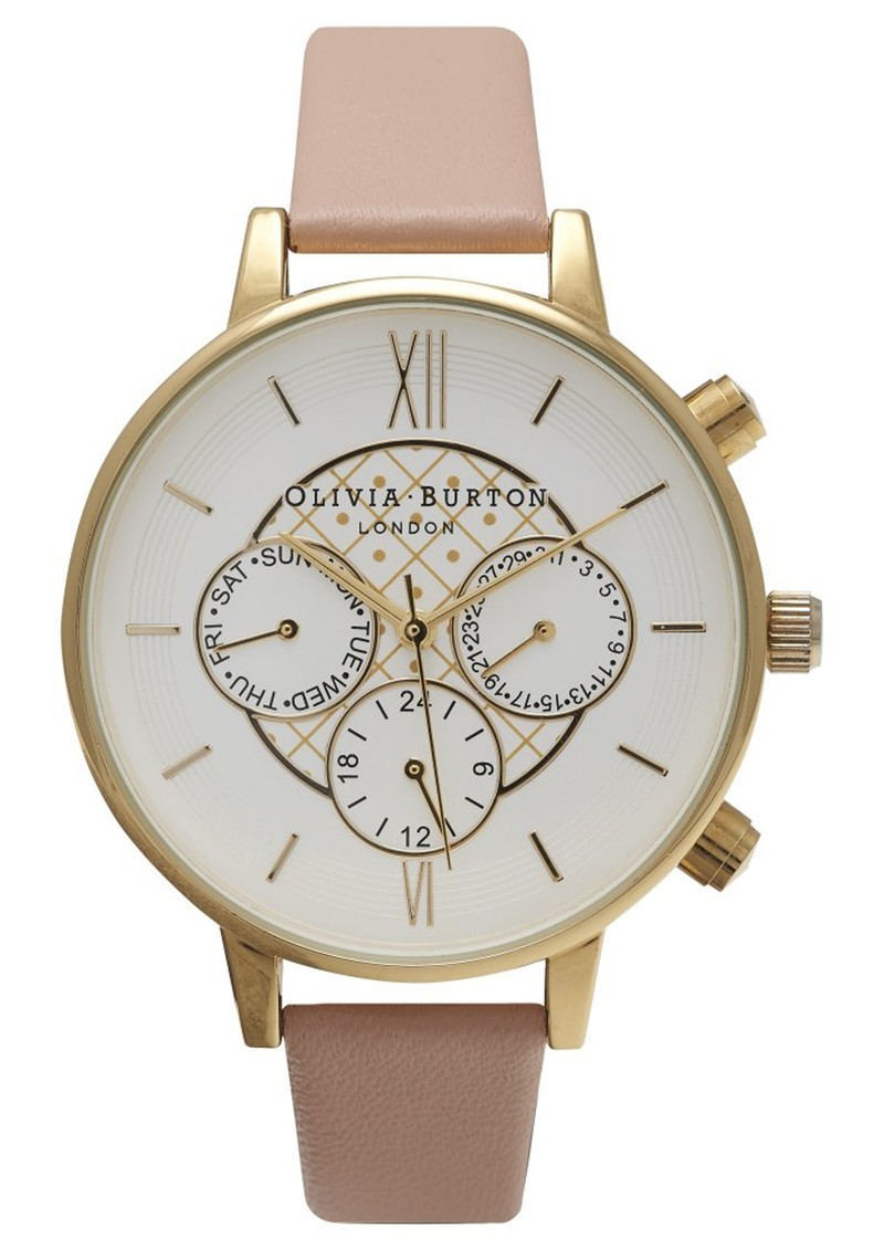 Olivia Burton CHRONO DETAIL WATCH - DUSTY PINK & GOLD main image