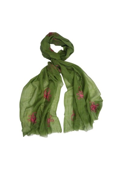 Lily and Lionel Skull Scarf - Green main image