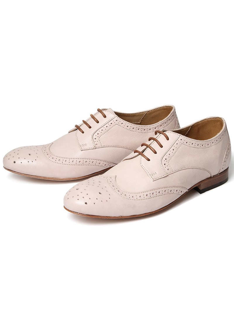 Hudson London DAISY LEATHER BROGUE - NUDE main image