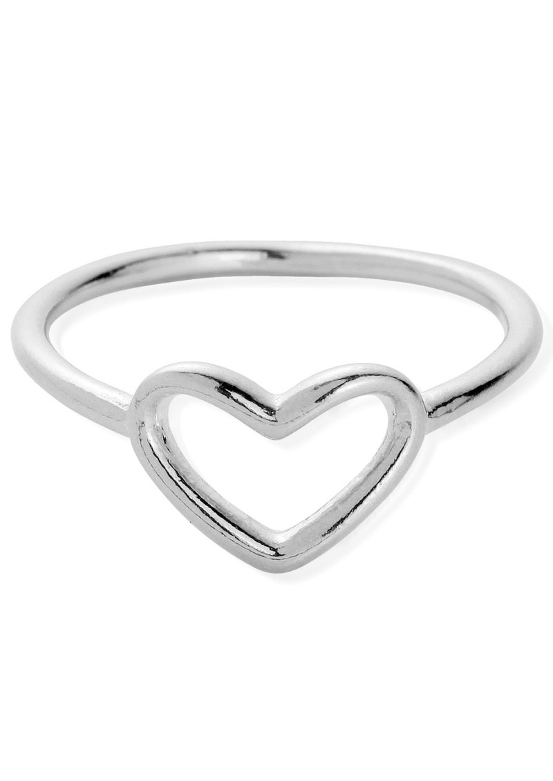 ChloBo CHERISH RING WITH INSET HEART - SILVER main image