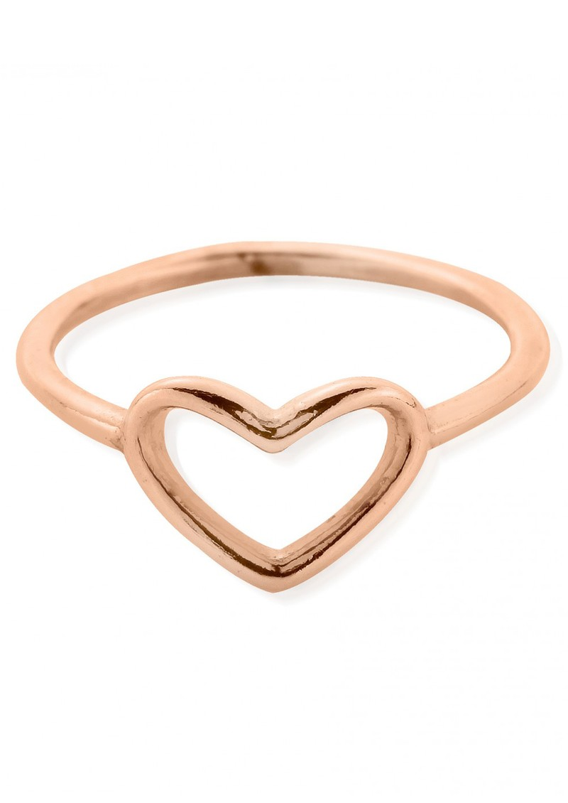 CHERISH RING WITH INSET HEART - ROSE GOLD main image