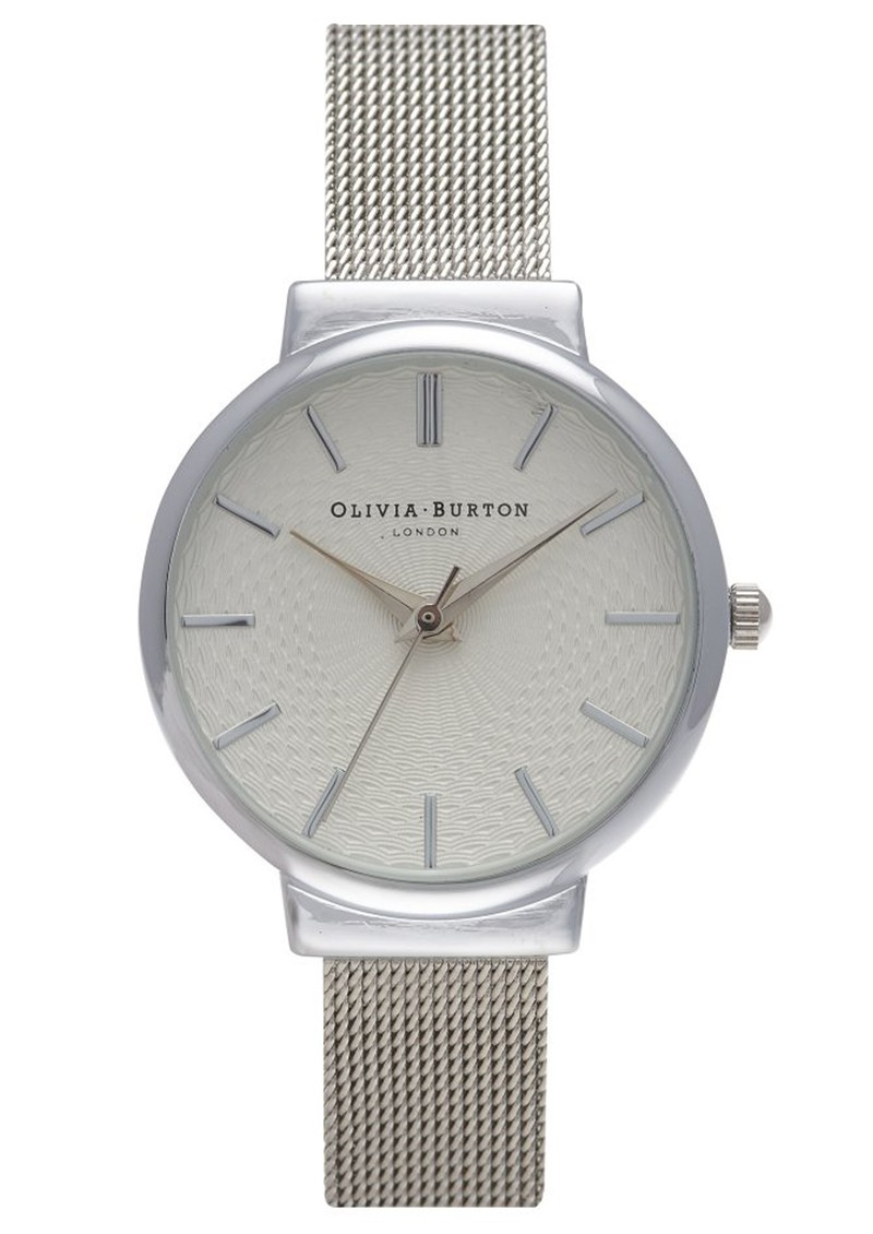 Olivia Burton THE HACKNEY MESH WATCH - SILVER main image