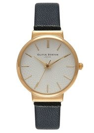 Olivia Burton THE HACKNEY WATCH - BLACK & GOLD