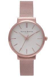 Olivia Burton THE HACKNEY MESH WATCH - ROSE GOLD