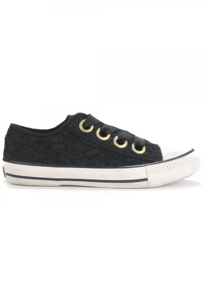 Ash VICKY FLORAL LACE TRAINER - BLACK main image