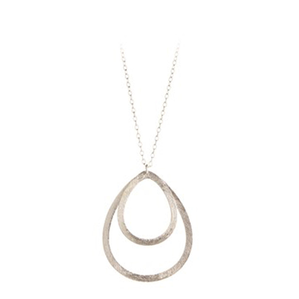DOUBLE DROP NECKLACE - SILVER