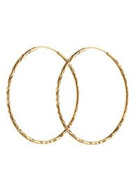 PERNILLE CORYDON LARGE FACET CREOL HOOPS - GOLD