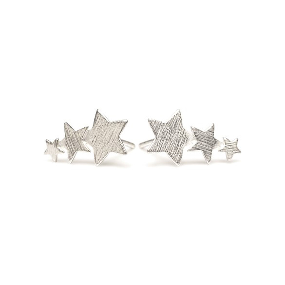 SHOOTING STAR EARRINGS - SILVER