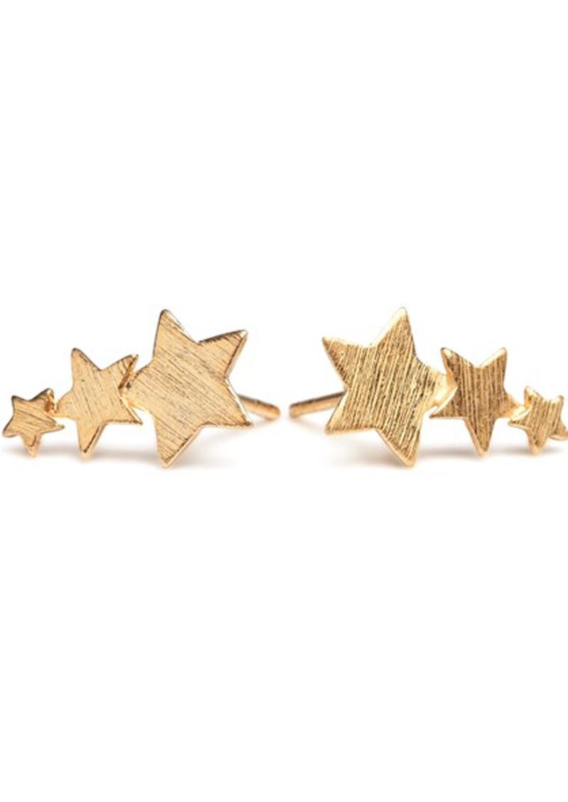 PERNILLE CORYDON SHOOTING STAR EARRINGS - GOLD main image