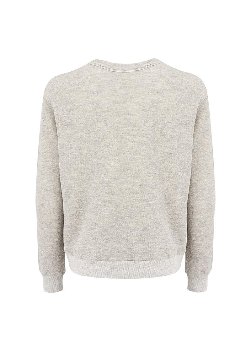 American Vintage Holdrege Cotton Sweater - Grey Melange main image