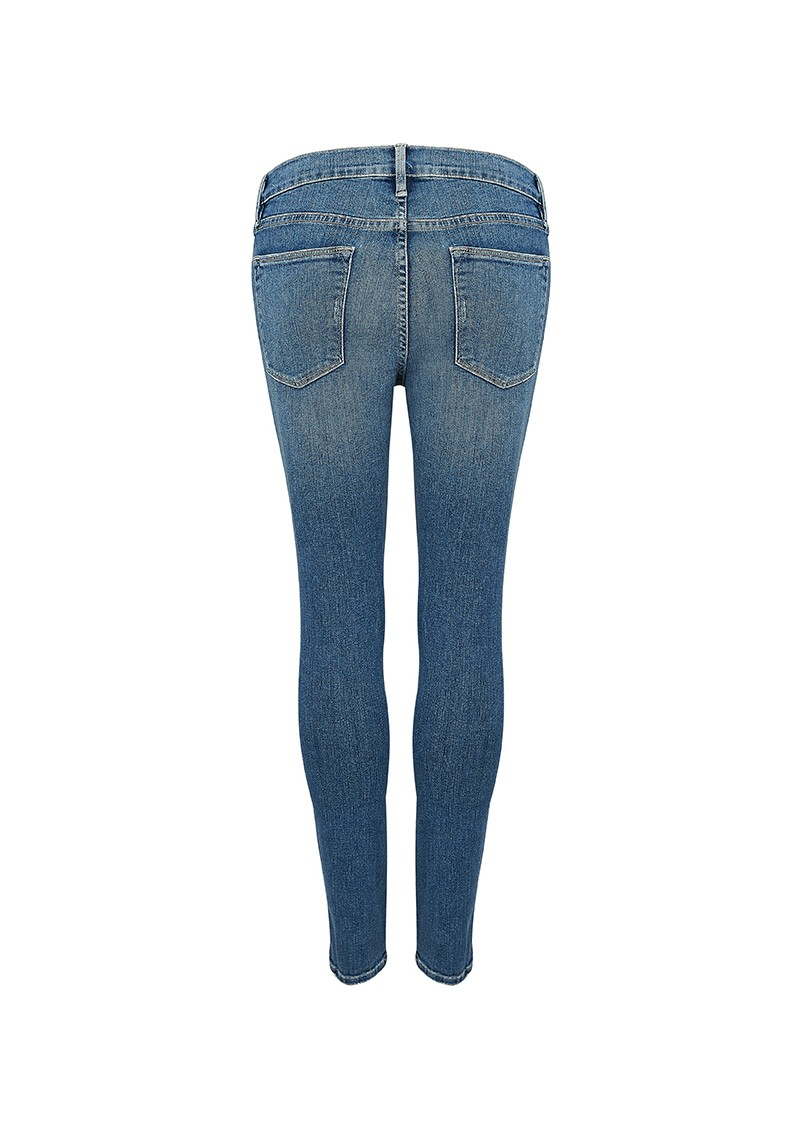 Frame Denim LE HIGH SKINNY DISTRESSED JEANS - SEELEY main image