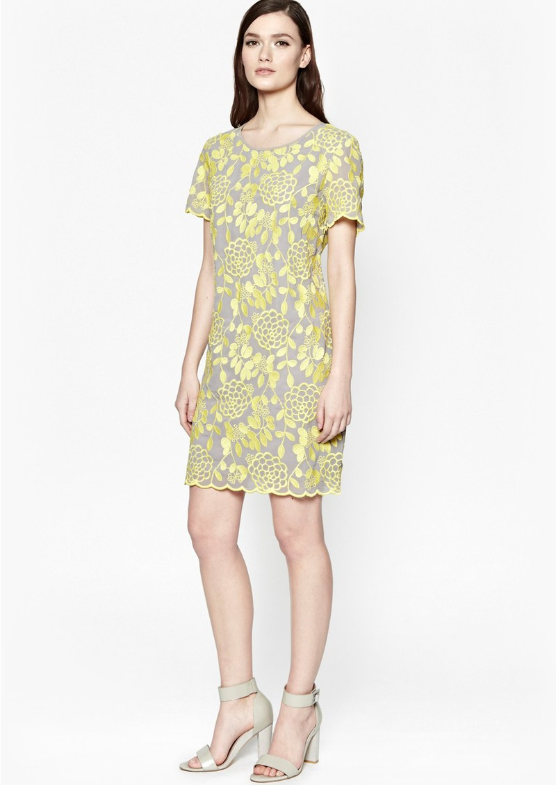 Great Plains CRYSANTHEMUM EMBROIDERED DRESS - DAFFODIL main image