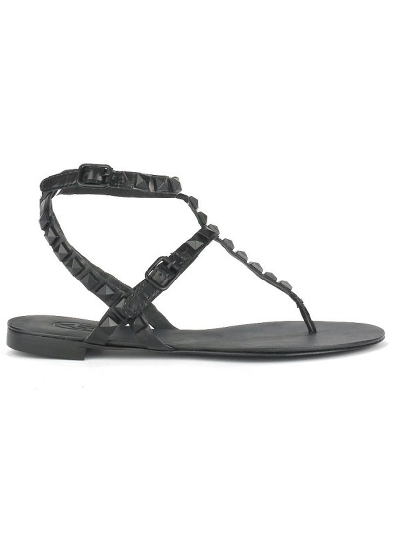 Ash MYLO GLOSS SANDALS - CROCO BLACK main image