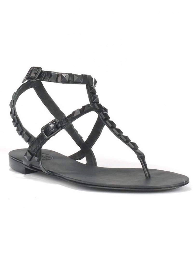 MYLO GLOSS SANDALS - CROCO BLACK main image