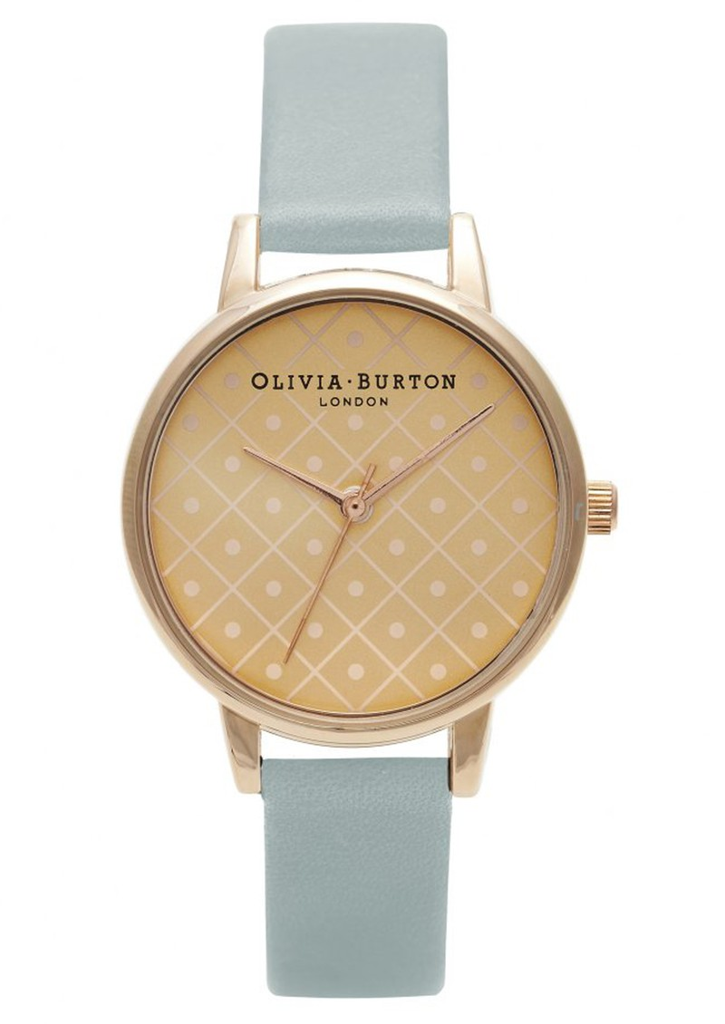 Olivia Burton MODERN VINTAGE DOT DESIGN WATCH - ROSE GOLD & POWDER BLUE main image