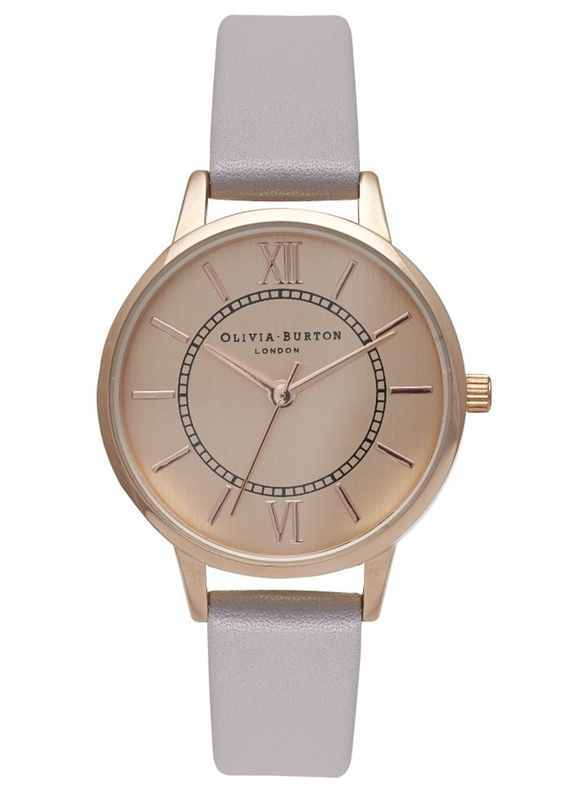 Olivia Burton WONDERLAND WATCH - GREY LILAC & ROSE GOLD main image