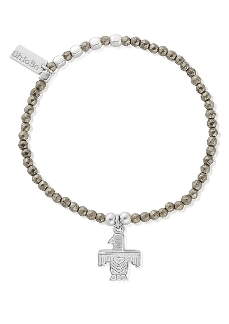 ChloBo Sun Dance Pyrite Bracelet with Eagle Charm - Silver main image