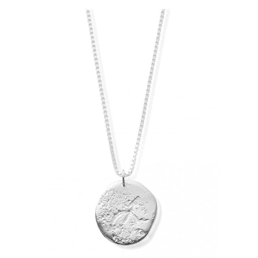 Sun Dance Sagittarius Zodiac Necklace - Silver