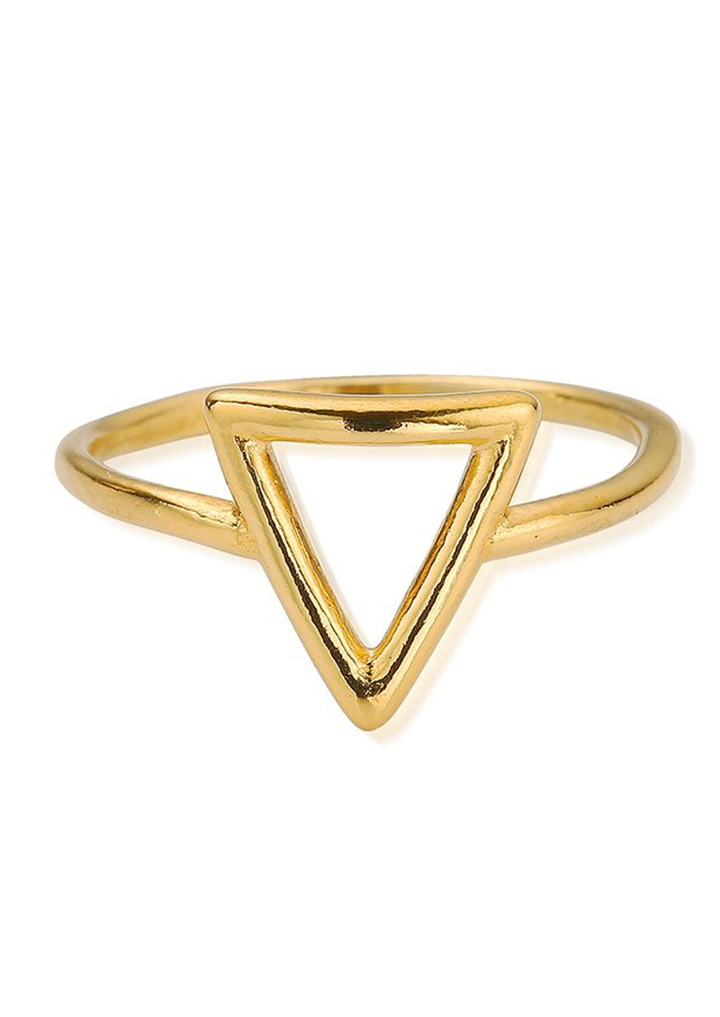 SUN DANCE CHERISH TRIANGLE RING - GOLD main image