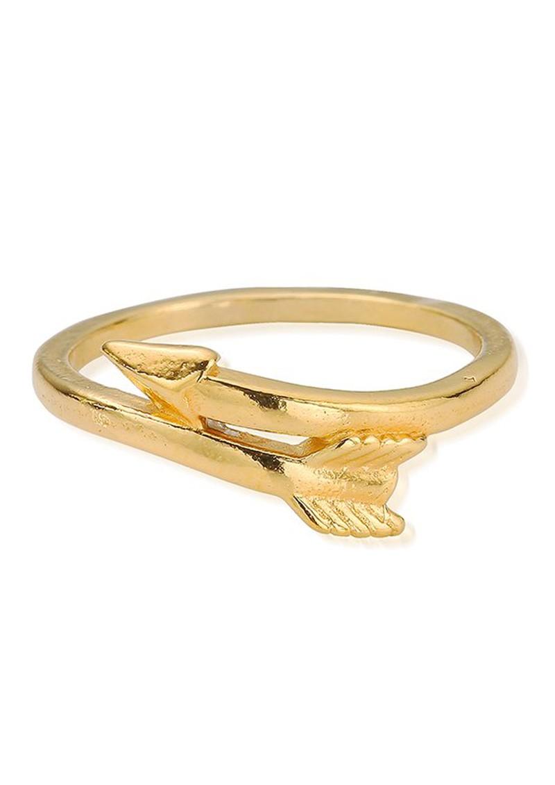 ChloBo SUN DANCE CHERISH ARROW RING - GOLD main image