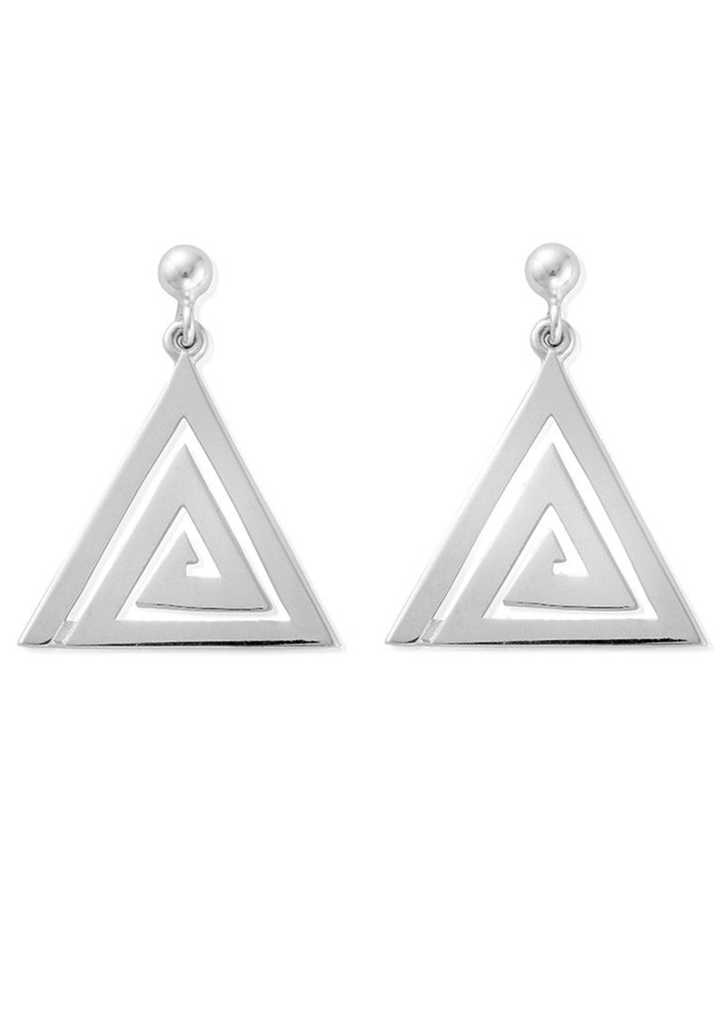 ChloBo Sun Dance Aztec Triangle Dangle Earrings - Silver main image