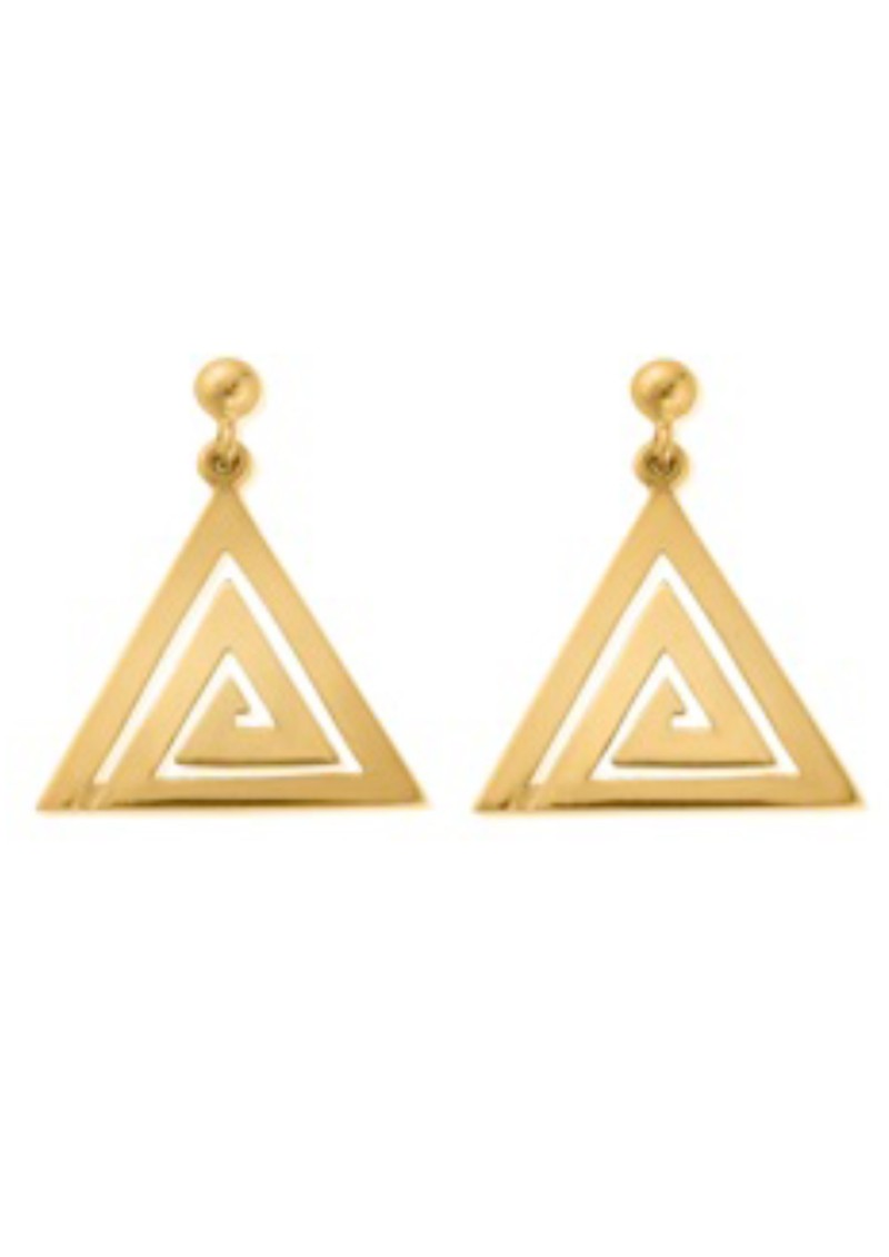 chlobo sun dance aztec triangle dangle earrings gold. Black Bedroom Furniture Sets. Home Design Ideas