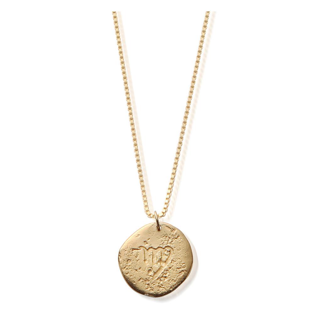 Sun Dance Virgo Zodiac Necklace - Gold