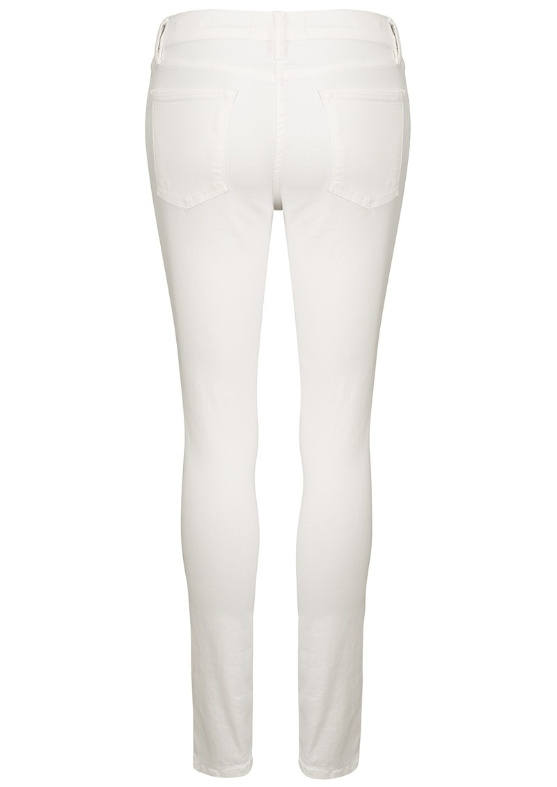 Le High Skinny Ripped Jeans - Blanc main image