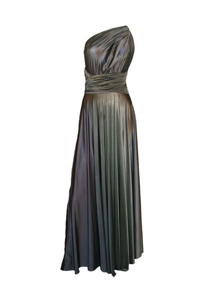 Butter By Nadia Long Satin Gown - Lead main image