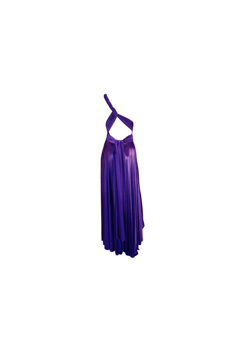 Butter By Nadia Long Satin Gown - Eggplant main image