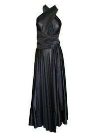 Butter By Nadia Long Satin Ball Gown - Black