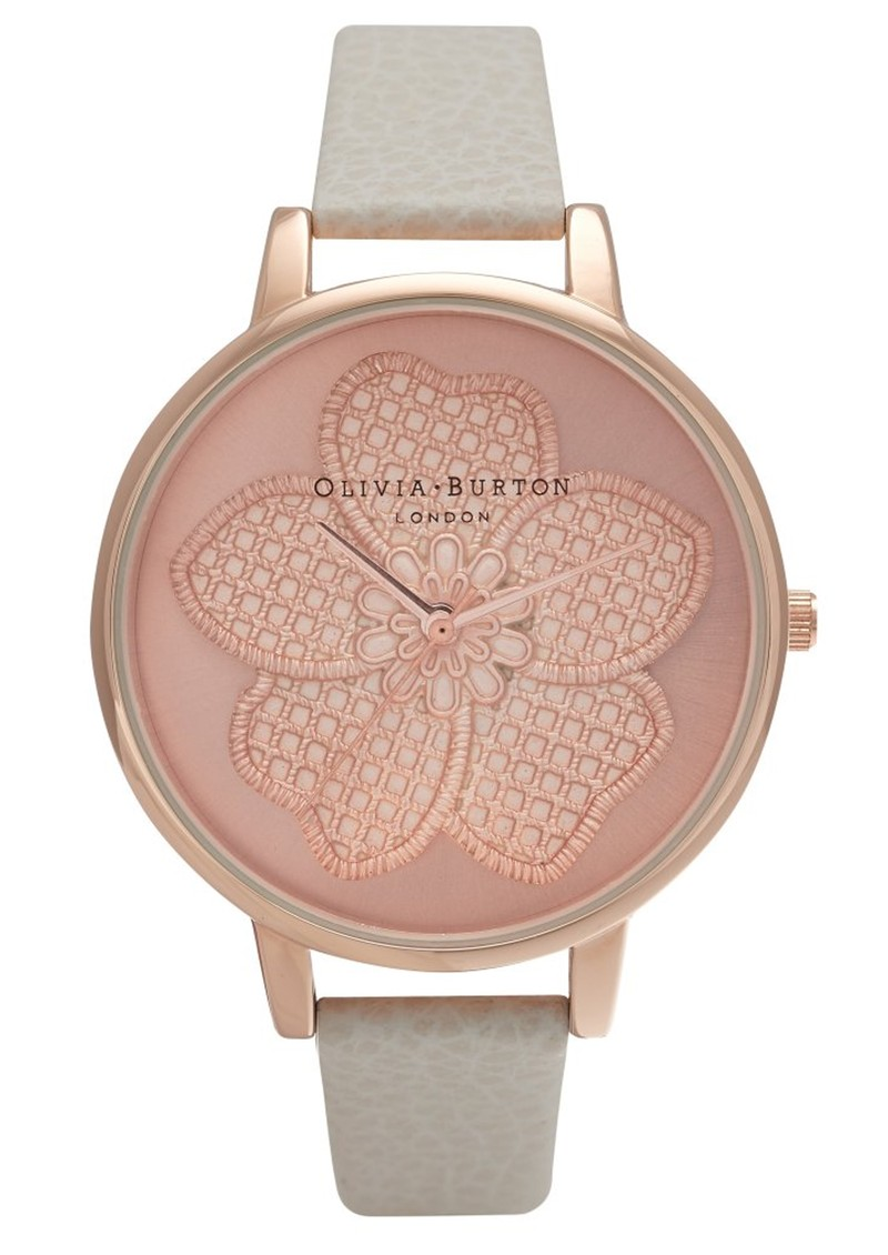 Olivia Burton Enchanted Garden 3D Flower Watch - Mink & Rose Gold main image