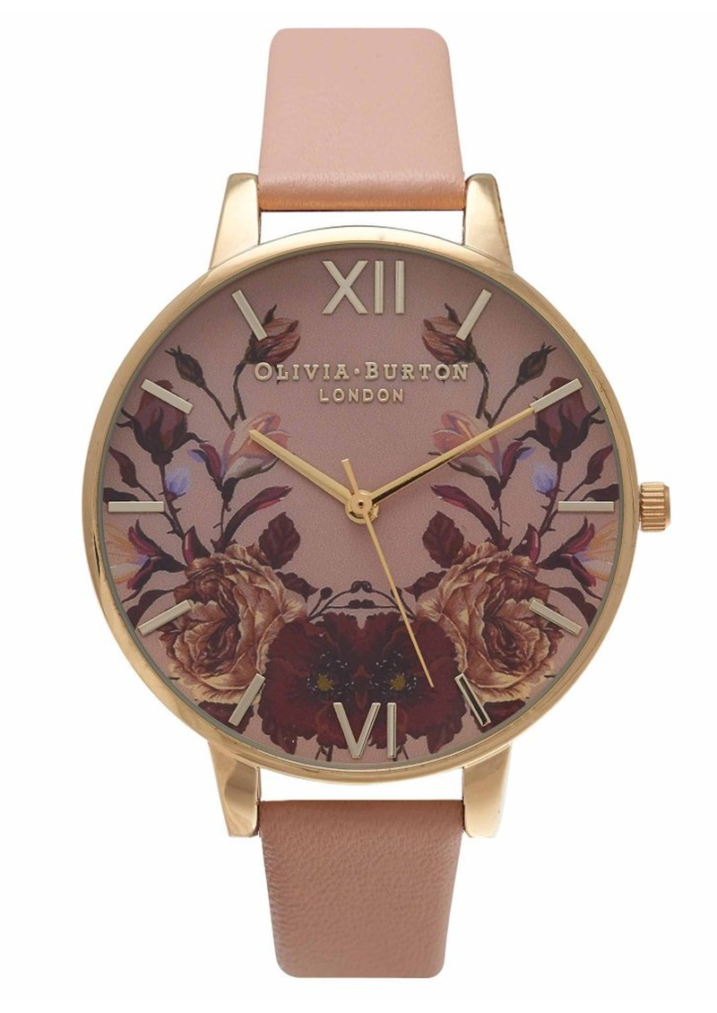 Enchanted Garden Mirror Watch - Dusty Pink & Gold main image